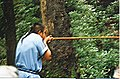 Blowgun demonstration in Oconaluftee Indian Village, Cherokee, North Carolina.jpg
