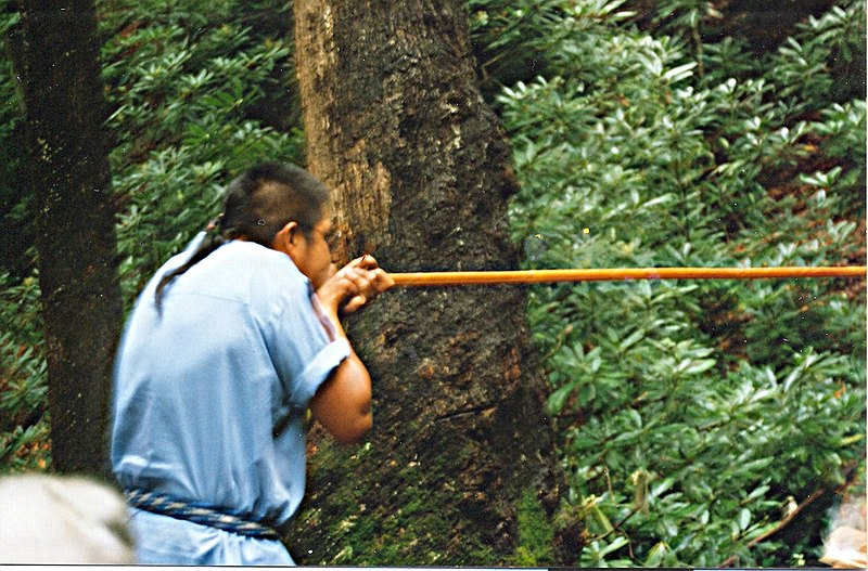 Datoteka:Blowgun demonstration in Oconaluftee Indian Village, Cherokee, North Carolina.jpg