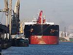 Blue Marlin I (ship, 2008) - IMO 9467859 & Chrida (ship, 1928) - ENI 06002786, Port of Antwerp.JPG