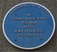 Blue plaque on Bennetts Hill, Birmingham