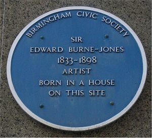 Bennetts Hill - Blue plaque on Bennetts Hill.