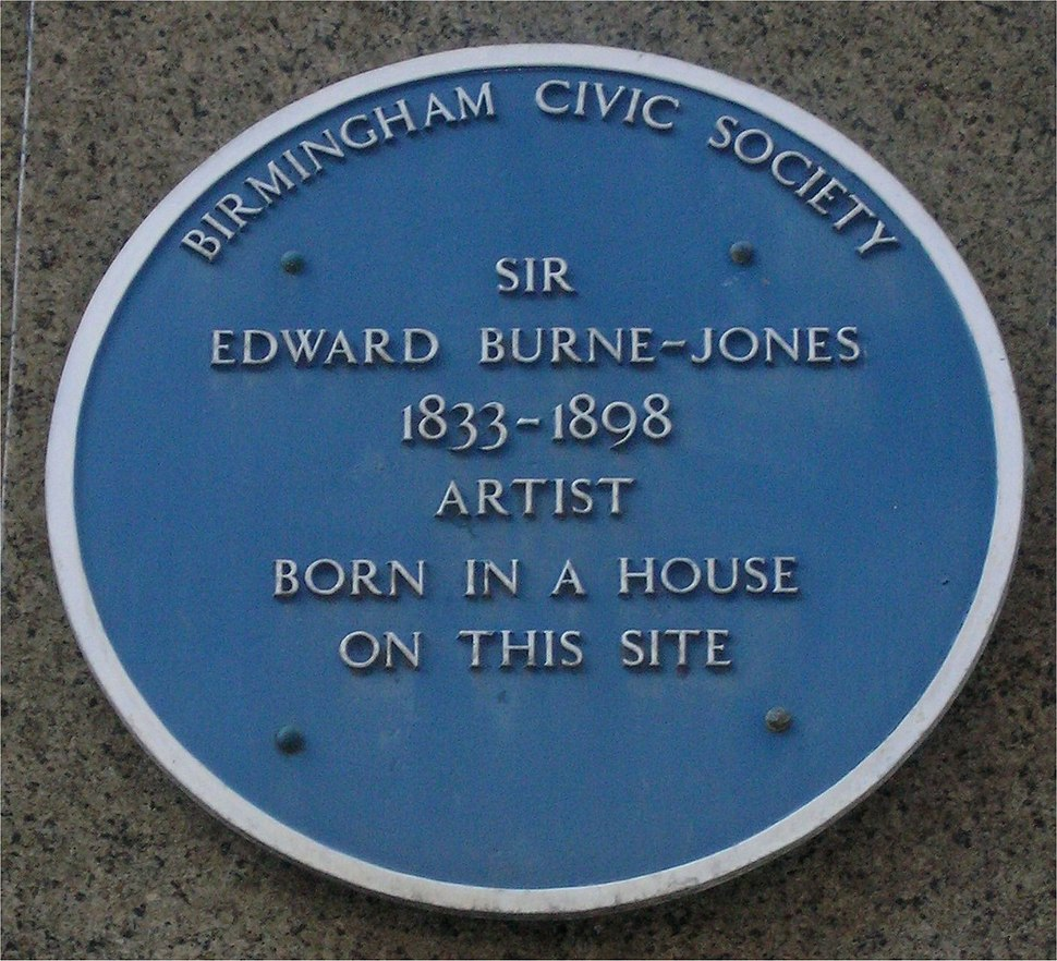Blue plaque Edward Burne-Jones