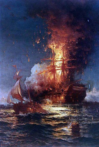 File:Boarding the United States Frigate Philadelphia in Tripoli Harbor.jpg
