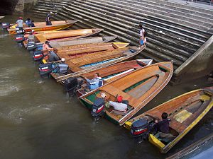 Boats Beside the Brunei river