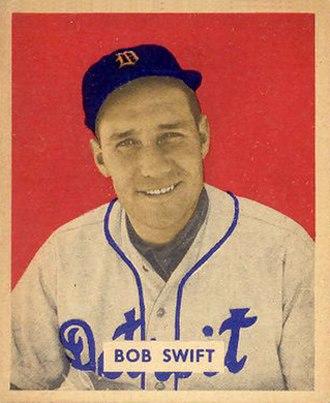 Bob Swift - Swift's 1949 baseball card