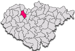 Bocşa within Sălaj County