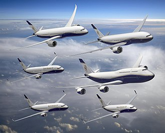 Boeing Business Jet - Artist's impression of the entire BBJ family