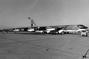 450th Bombardment Wing - Boeing B-52H 61-40, the last B-52 built, in later markings