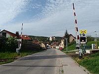 Bojkovice, Komenského, přejezd.JPG