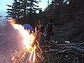 Bonfire at Chitral Gol National Park KPK,Pakistan.jpg