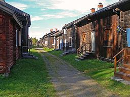 Kirkehytterne i Bonnstan.