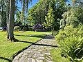 Borgheim, Nøtterøy, Norway. Minneparken anlagt 1950, WW2 Memorialstatue by Carl E. Paulsen, Rhododendron, summer etc. 2021-06-16 IMG 4278.jpg