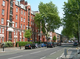 Borough Road - Borough Road, looking from St George's Circus towards Borough