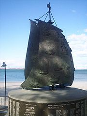 A monument in Brighton-Le-Sands, Botany Bay in New South Wales commemorating the landing of the First Fleet. The monument has the names of most of those who arrived on the First Fleet. Gillen (see References) is more authoritative.