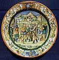 Bottega dei fontana, piatto con achille che si arma (su dis. di battista franco), urbino 1560 ca.jpg