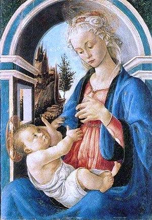 Madonna and Child (Botticelli, Avignon) - Image: Botticelli Madonna Con Bambino Avignone