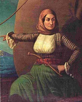 Laskarina Bouboulina - Oil painting of Bouboulina, the National Historical Museum, Athens