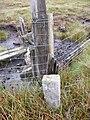 Boundary Stone on fence line on Yad Moss - geograph.org.uk - 1444980.jpg