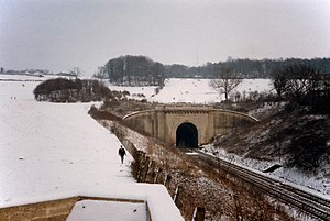 Box Tunnel - Winter view of western portal