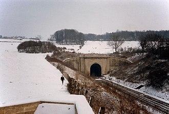 Box Tunnel - Winter view of western portal