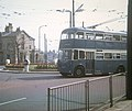 Bradford Trolleybus turning at Saltaire Roundabout - geograph.org.uk - 1504291.jpg