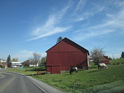 a barn just outside Luthersburg in the township