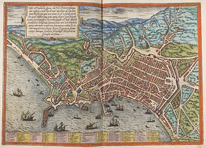 Timeline of Naples - Map of Naples, 1572