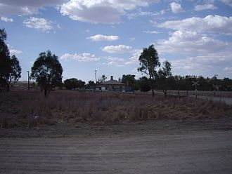 Brawlin, New South Wales - Brawlin - with disused rail siding at left background