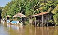 Brazil Pará Cumbu Island boathouses 2009.jpg