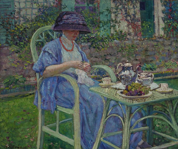 File:Breakfast in the Garden, Frieseke.jpg