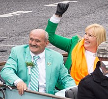 Brendan O'Carroll was the Grand Marshal At The St. Patrick's Day Parade In Dublin REF-102282 (16640203117) (cropped).jpg