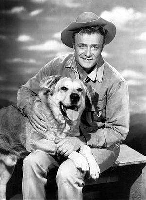 Brian Keith - Keith and Spike in The Westerner (1960)
