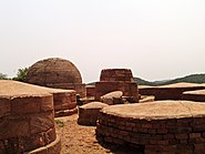 Brick Chaitya along with group of Stupas