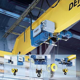 Overhead crane - Image: Bridge Crane with Wire Rope Hoist