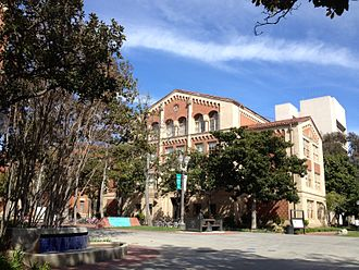 USC Marshall School of Business - Bridge Hall with Hoffman Hall in the background