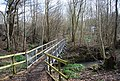 Bridge over the River Line, Lower Hucksteep Wood - geograph.org.uk - 1726955.jpg