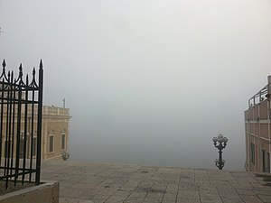 Port of Brindisi - The port in a fog