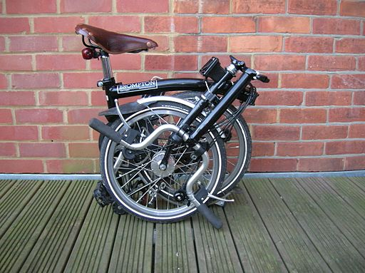 Brompton bicycle folded