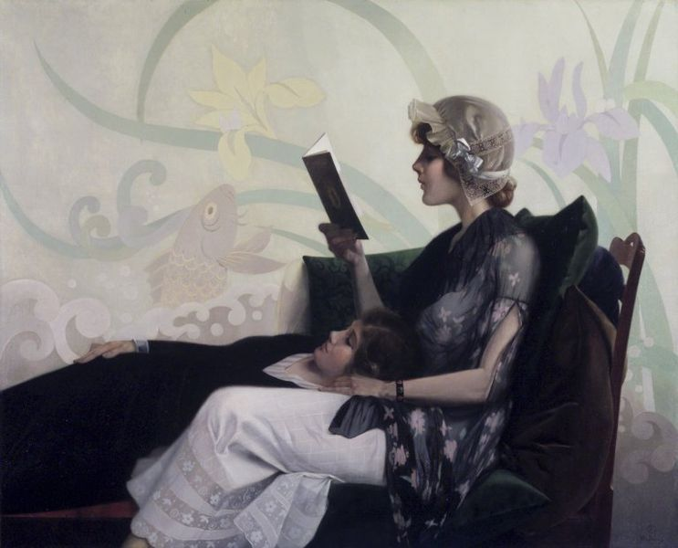 File:Brooklyn Museum - Just a Couple of Girls - Harry Wilson Watrous - overall.jpg