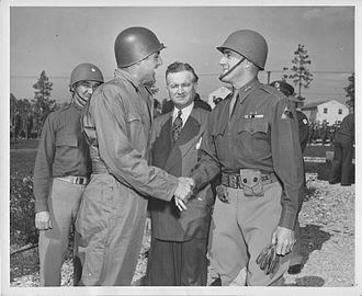 Edward H. Brooks - Brooks greeting actor Cary Grant.