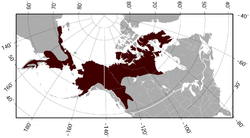 Brown Lemming Lemmus trimucronatus distribution map.png