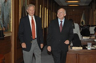 Bruce Babbitt - Babbitt with then-Secretary of the Interior Ken Salazar at the Department's headquarters in Washington, D.C.