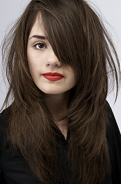 kastanjebrunt hår