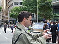 Bryan Seymour at anti-Scientology protest 01.jpg