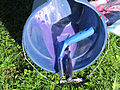 Bucket, paint spattered, water-filled, used to hold painting implements and to anchor painting 02.jpg