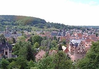 Büdingen Place in Hesse, Germany