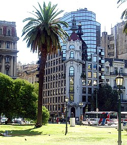 Traditionele Europese en moderne bouwstijlen in Buenos Aires