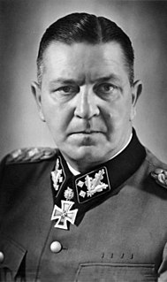 Theodor Eicke German SS general, commander of concentration camp Dachau and inspector of the concentration camps (1892-1943)