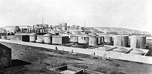 Petroleum industry in Azerbaijan - Oil refinery in Baku circa 1912
