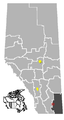 Burdett, Alberta Location .png